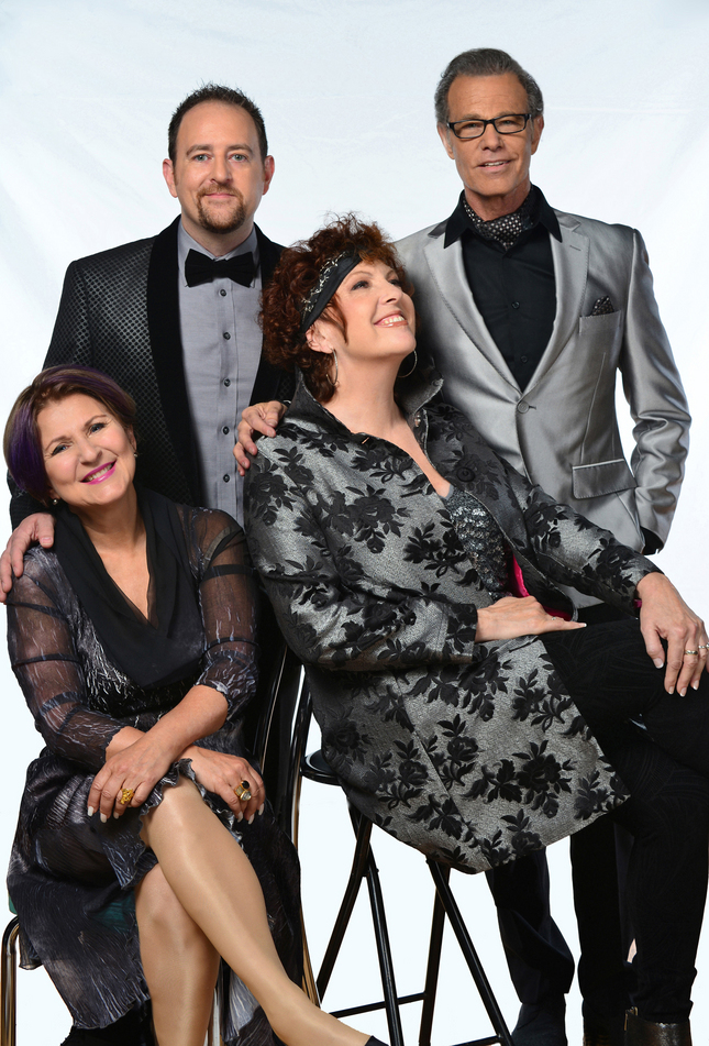 Sherry Rayn Barnett photo The Manhattan Transfer, with Janis Siegel, Trist Curless, Cheryl Bentyne and Alan Paul, from left, are to perform on May 31, 2015, at Schultz Cultural Arts Hall at Oshman Family JCC in Palo Alto.